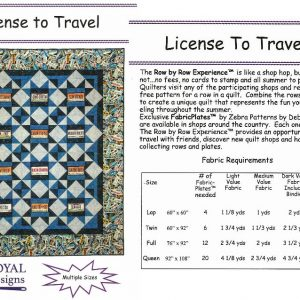 License To Travel - Quilting